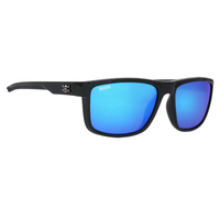 CALCUTTA BANKS SUNGLASSES WITH BLACK FRAME AND BLUE MIRROR LENS