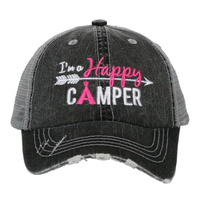 Happy Camper Kids Hot Pink Hat