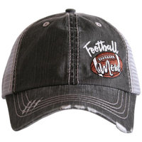 FOOTBALL MOM SIDE PATCH GREY HAT