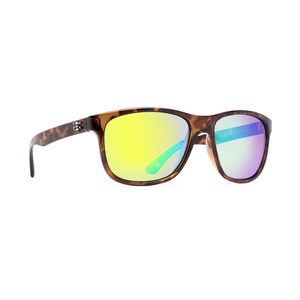 CALCUTTA CATALINA SUNGLASSES WITH TORTUOUS FRAME AND GREEN LENS