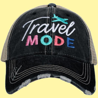 Travel Mode Black/Tan Trucker