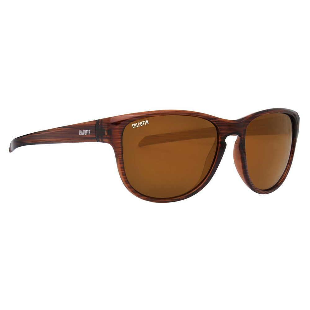 CALCUTTA DUNE SUNGLASSES WITH SHINY WOOD FRAME AND BROWN MIRROR LENS