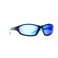 CALCUTTA BACKSPRAY SUNGLASSES - BLACK AND BLUE
