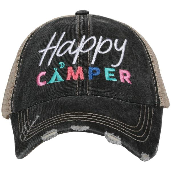 Happy Camper Trucker Black Hat