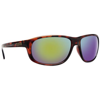 CALCUTTA WALKER SUNGLASSES WITH TORTUOUS FRAME AND GREEN MIRROR LENS