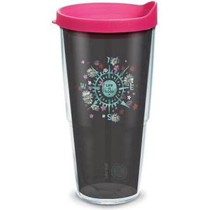 24OZ LIFE IS GOOD FLORAL COMPASS