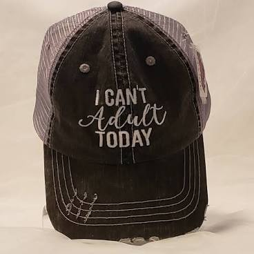 CAN'T ADULT GREY TRUCKER HAT
