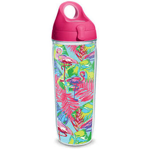 Bright Flamingo Wrap Water Bottle 24oz