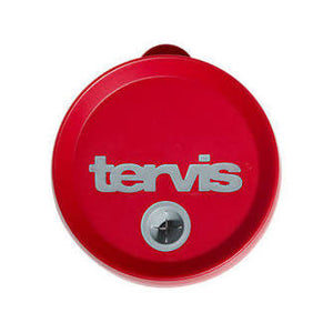 STRAW LID 16 OZ RED