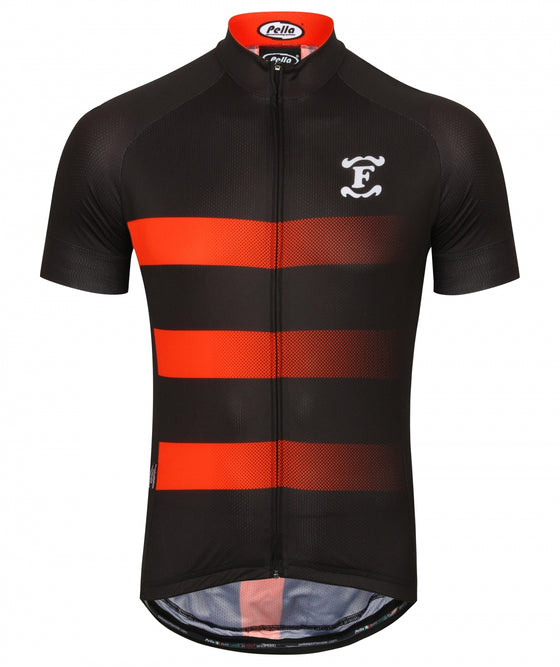 Fred's Cycle Jersey, Black and Red