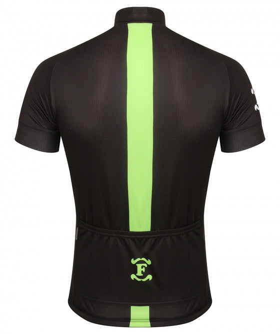 Fred's Cycle Jersey, Black and Yellow