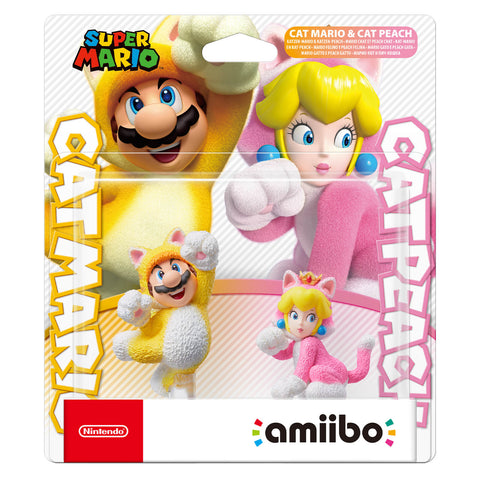 Cat Mario & Cat Peach Amiibo Double Pack