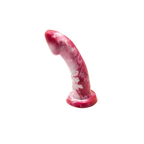 Godemiche Ambit Silicone Suction Base Dildo Mars Red and Pearl 6 Inch - image 1