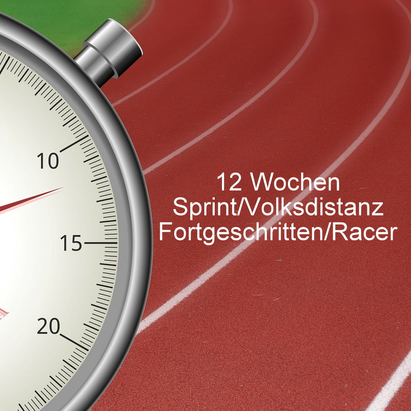Trainingsplan Triathlon: 12 Wochen Sprint-/Volksdistanz - Level Fortgeschritten/Racer