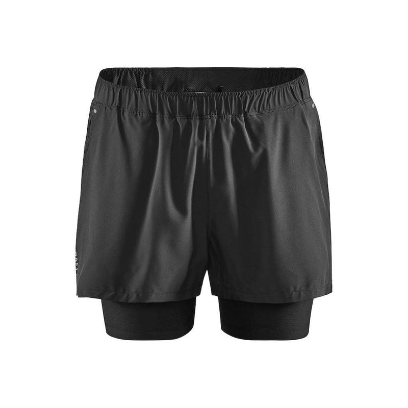Craft ADV Essence 2in1 Stretch Shorts, Laufhose, Short, Herren, schwarz