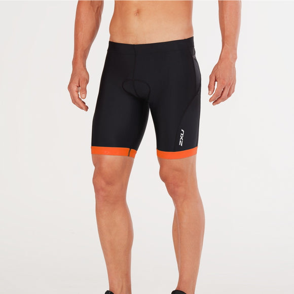 2XU Active Tri Short, Herren, schwarz/orange