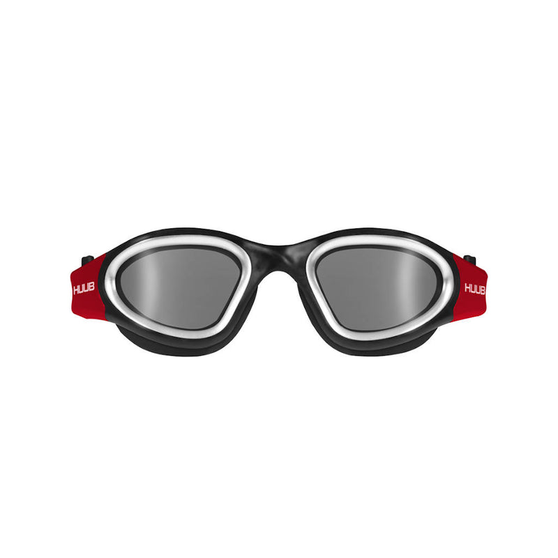 Huub Aphotic Schwimmbrille, schwarz/rot