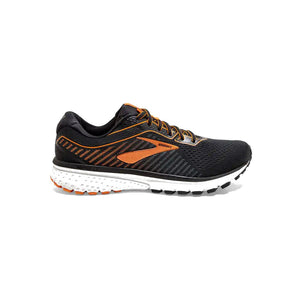 Brooks Ghost 12, Herren, schwarz/orange