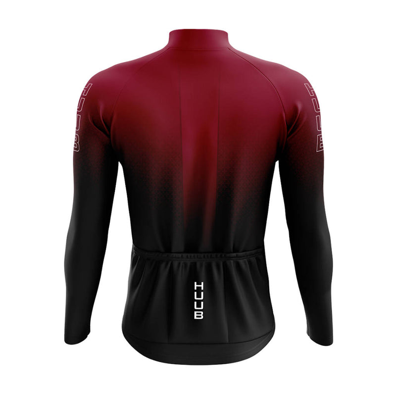 Huub Core 2 Long Sleeve Thermal Jersey, Radtrikot, Herren, schwarz/rot