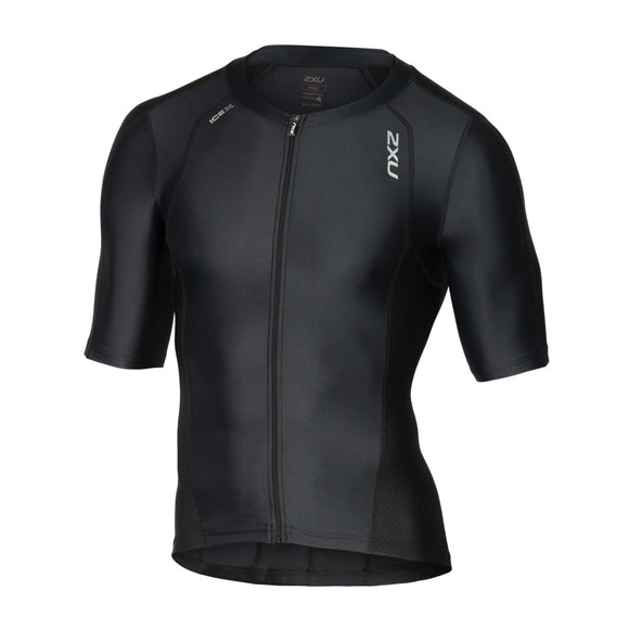 2XU Compression Sleeved Tri Top, Herren, schwarz, MT4840a