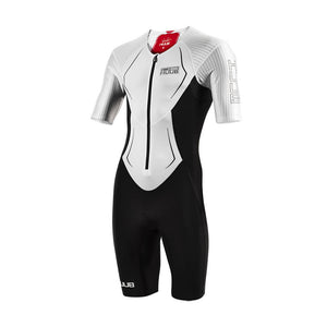 Huub DS Long Course Trisuit, Herren, weiß/rot