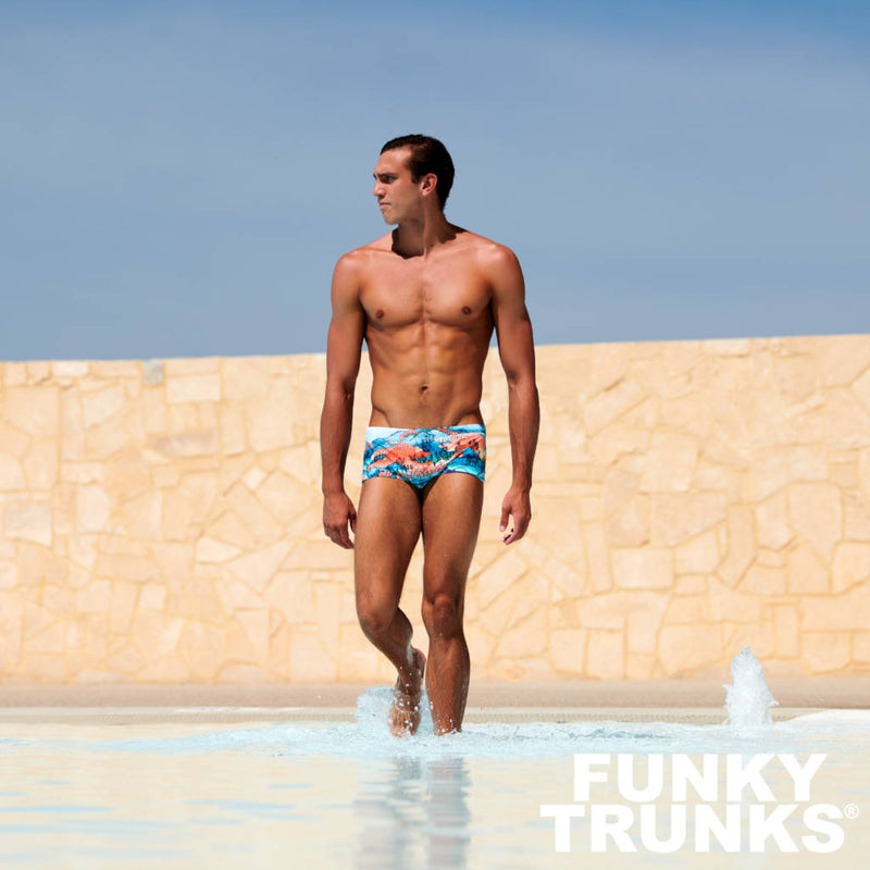 Way Funky, Mother Funky, Funky Trunks Mens Plain Front Trunks Misty Mountain, Badehose, Herren