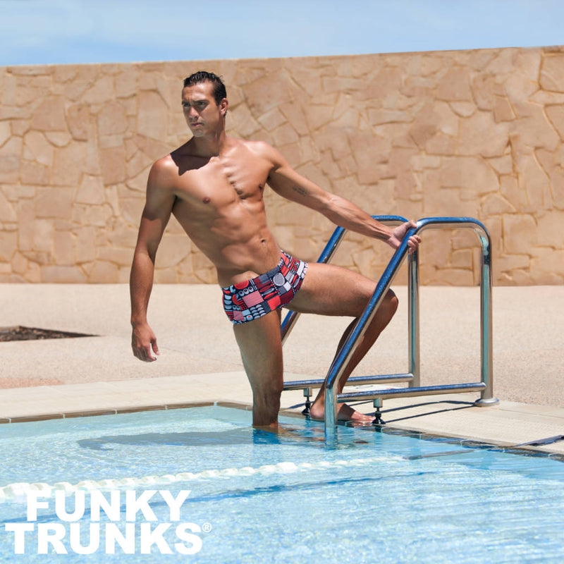 Way Funky, Mother Funky, Funky Trunks Mens Plain Front Trunks Bento Box, Badehose, Herren
