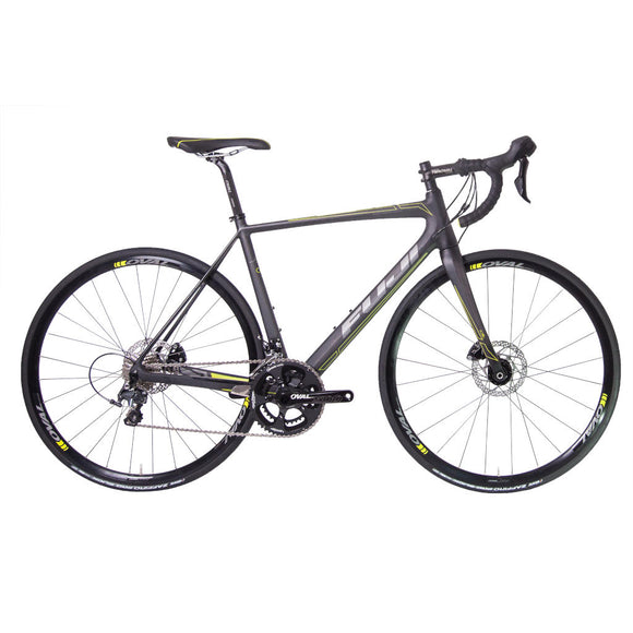 Fuji SL LTD Disc,  satin carbon / gelb