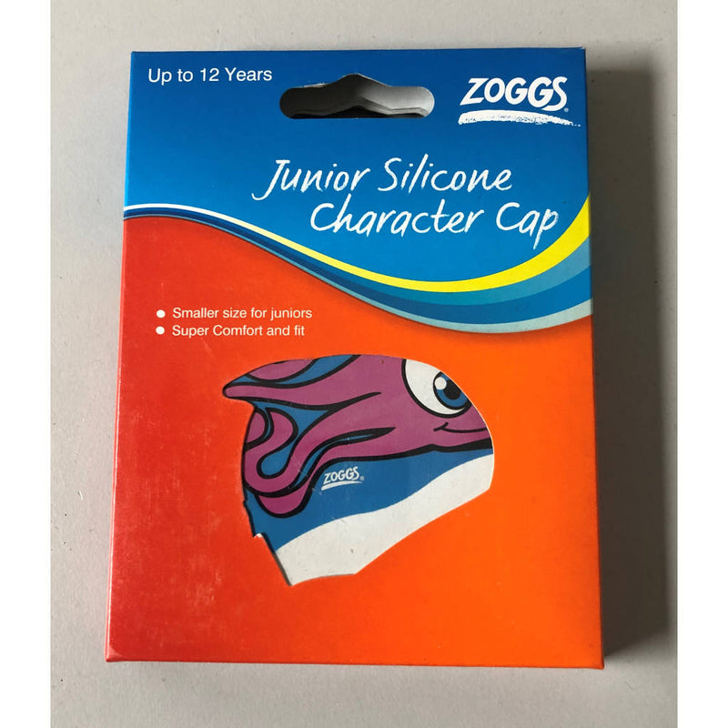 Zoggs Junior Silicone Character Cap, Badekappe, diverse Motive