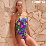 Way Funky, Mother Funky, Funkita Ladies Strapped In One Noodle Bar, Badeanzug, Damen