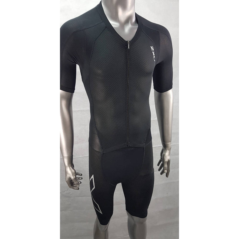 2XU Comp Full Zip Sleeved TriSuit, Herren, schwarz