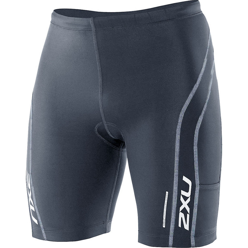 2XU Comp Tri Short + Pockets, Herren, grau