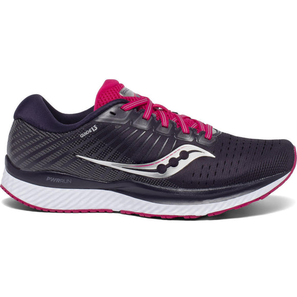 Saucony Guide 13, Damen, grau/berry