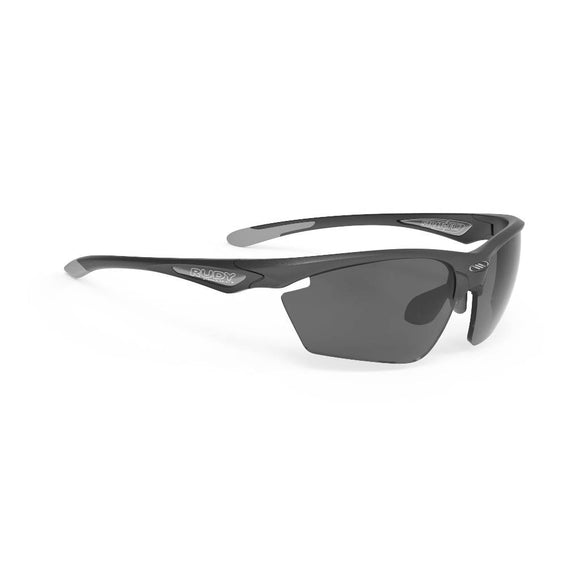 RUDY Project Stratofly, anthrazit,  RP Optics Smoke schwarz, Radbrille, Sportbrille