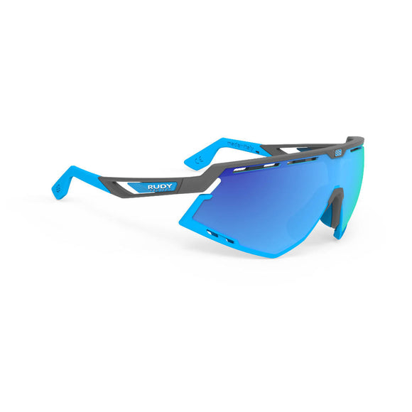 RUDY Project Defender, Pyombo matt, RP Optics Multilaser blau, Radbrille, Sportbrille