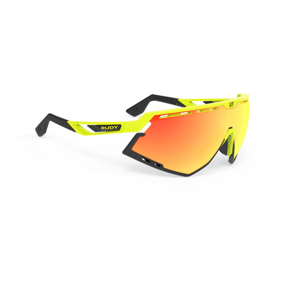 RUDY Project Defender, gelb fluoreszierend, RP Optics Multilaser orange, Radbrille, Sportbrille