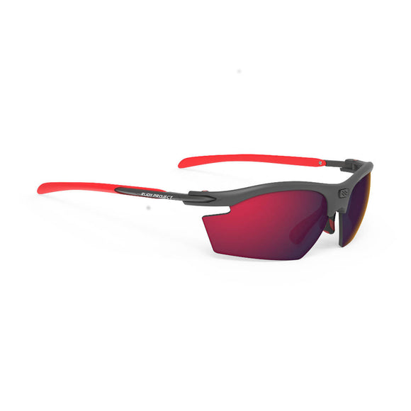 RUDY Project Rydon, graphit, RP Optics Multilaser rot, Radbrille, Sportbrille