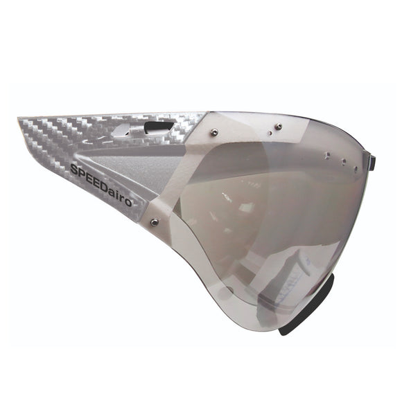 Casco SPEEDmask, Carbonic, klar silber/clear