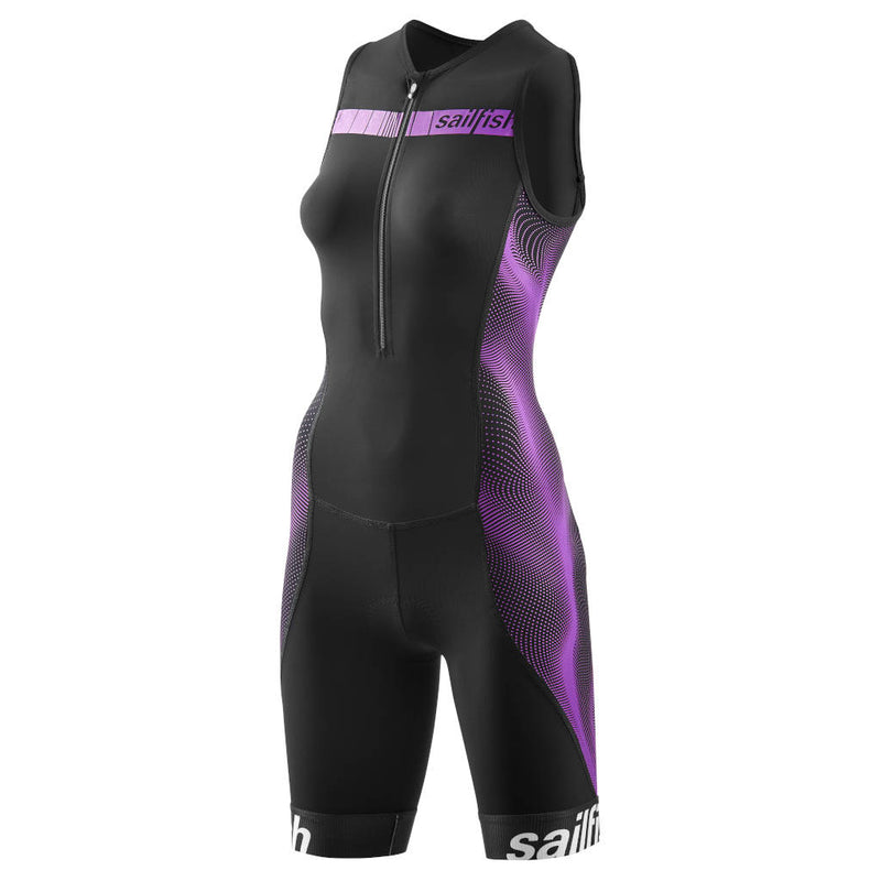 Sailfish TriSuit Comp, Damen, schwarz/berry