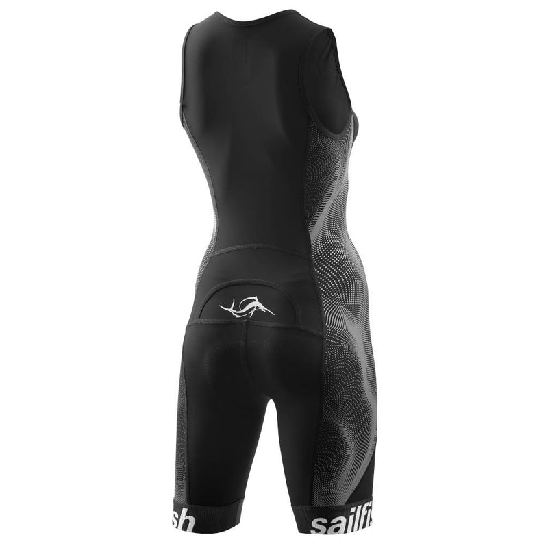 Sailfish TriSuit Comp, Damen, schwarz/grau
