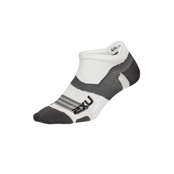 2XU Vectr Ultralight No Show Socken, weiß/grau