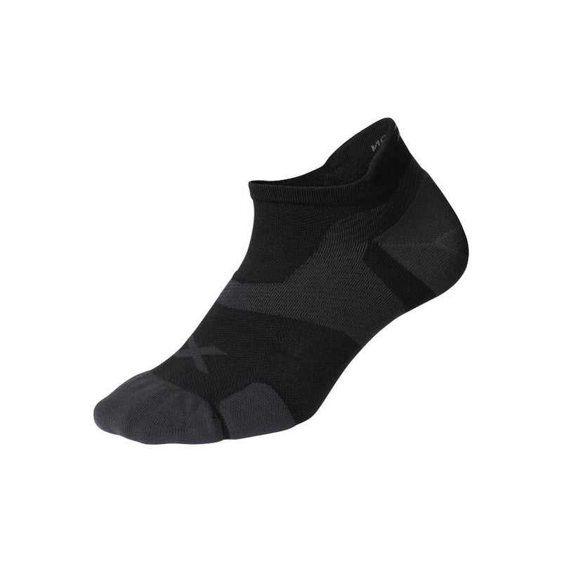 2XU Vectr Cushion No Show Socken, schwarz/titanium