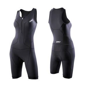 2XU Long Distance Trisuit, Damen, schwarz
