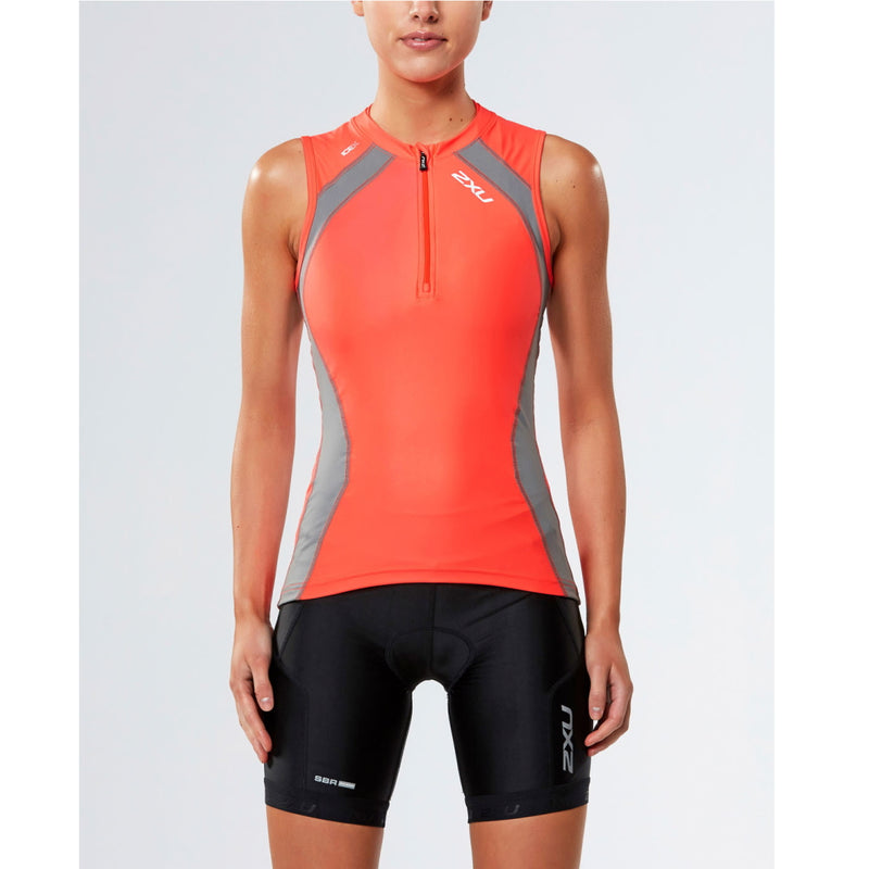 2XU Compression Tri Singlet, Damen, orange