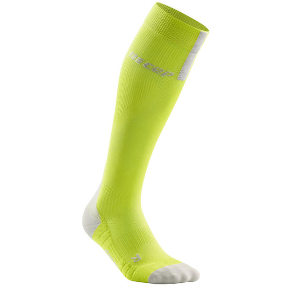 CEP Run Compression Sock 3.0, Herren, lime/grau
