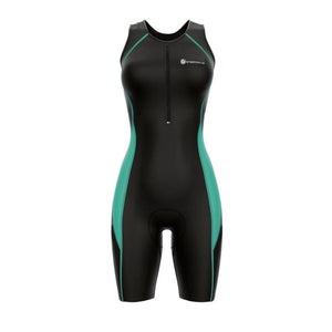 triathlon.de Basic TriSuit, Damen, schwarz/mint