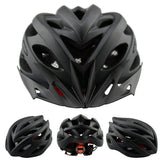 Bicycle Matte Air Vents Back Light Integrally Molded Mountain Road Bike Helmet