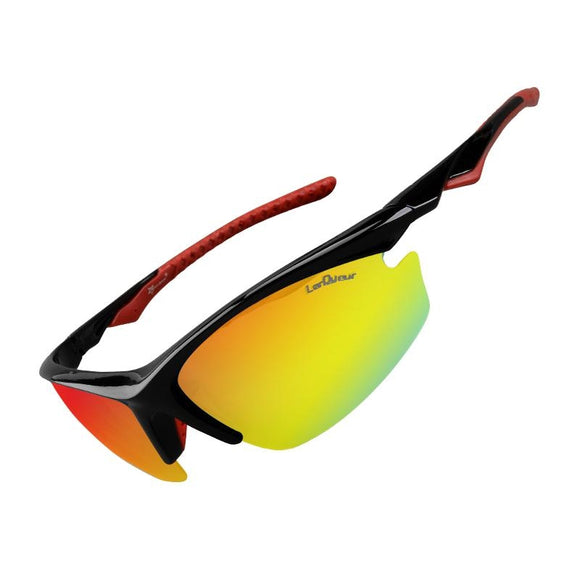 ROCKBROS Bicycle Sunglasses One Polarized Lens & 4 Lenses