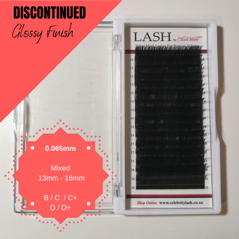 LASH Velvet Mink 0.065mm 13mm - 16mm Mixed Tray (Black)