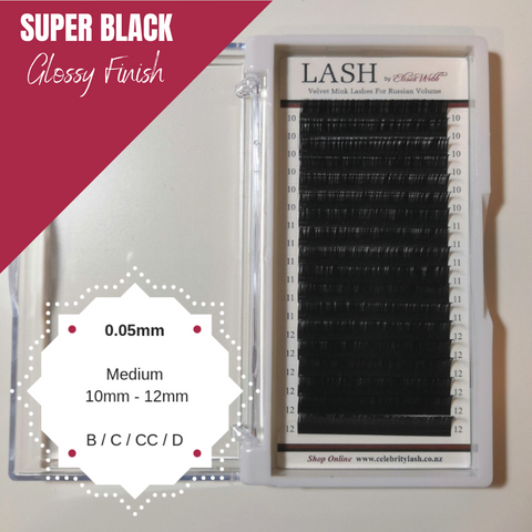 LASH Velvet Mink 0.05mm Medium Mixed Tray (Black)